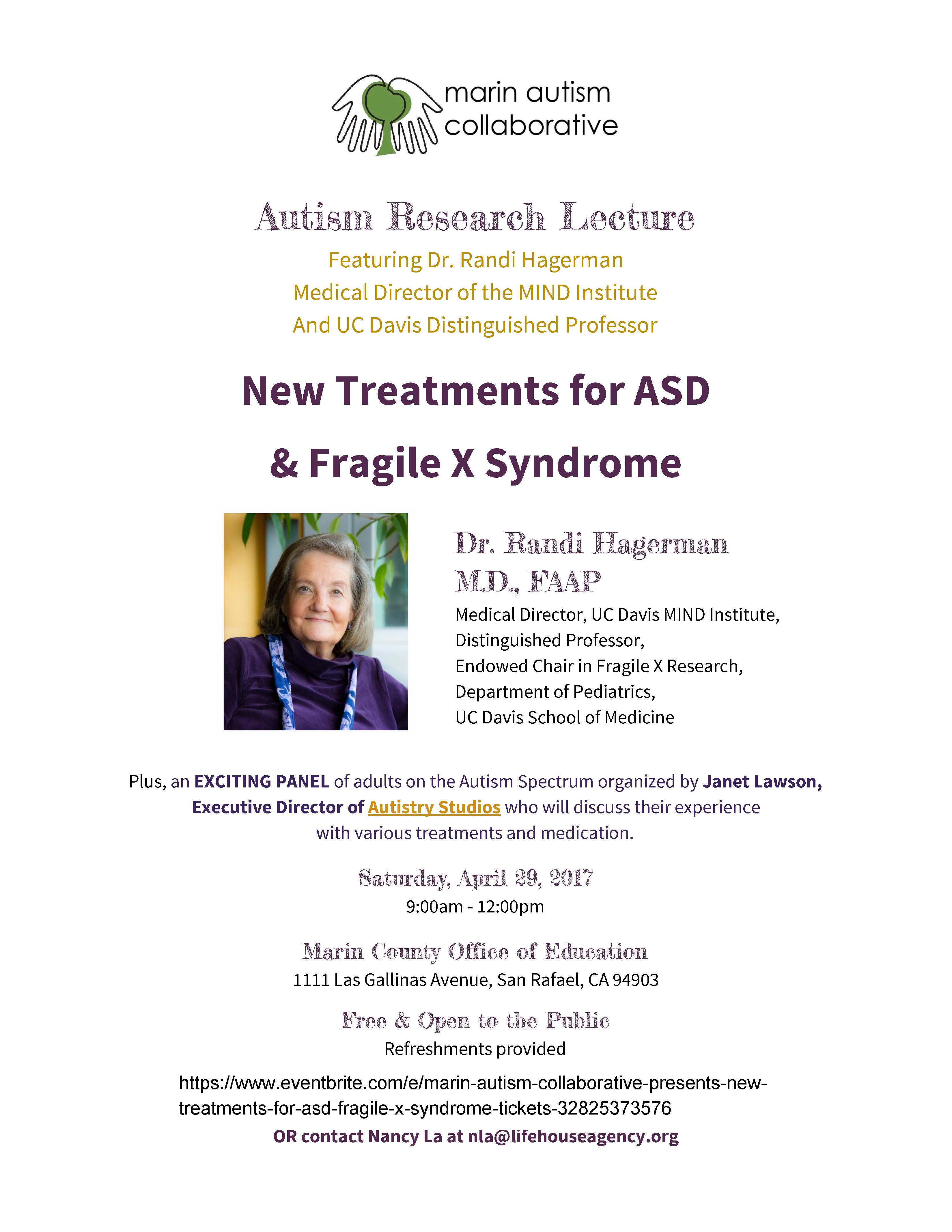 Autism Research Lecture flyer