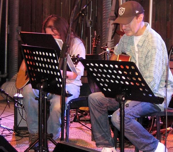 Tony and Vardo playing music