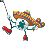 Dancing golf ball with hat