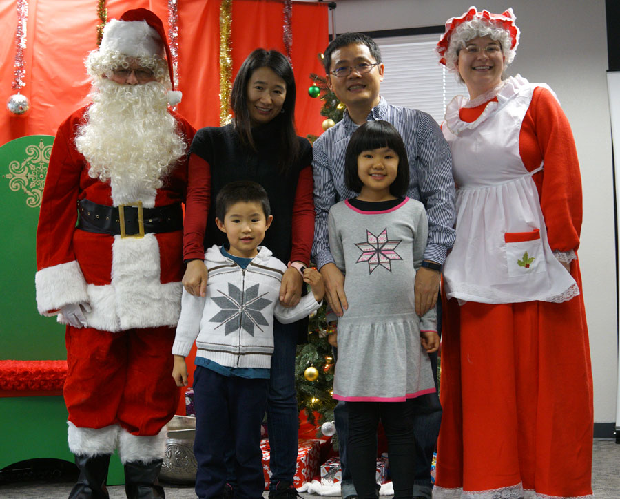Sensitive Santa Liu family