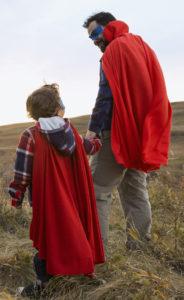 man boy with cape