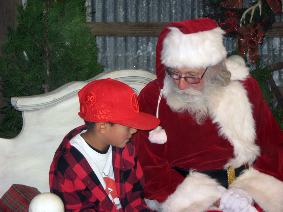 Silveyville visit with Santa