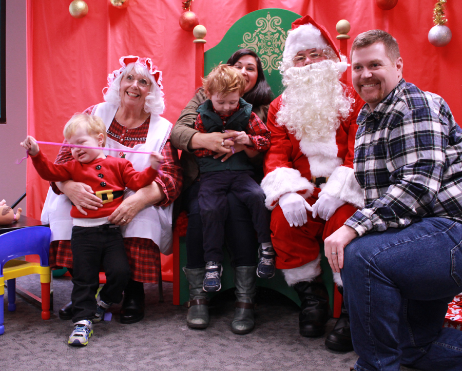 Sensitive Santa with Wehr Family