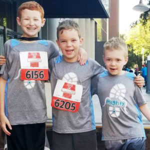 three mighty milers racers