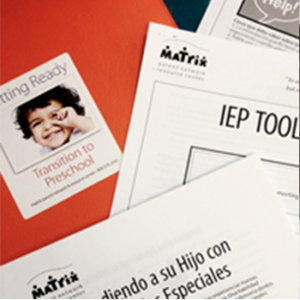 picture of Individual Education Plan printed materials