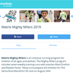 matrix crowdrise page