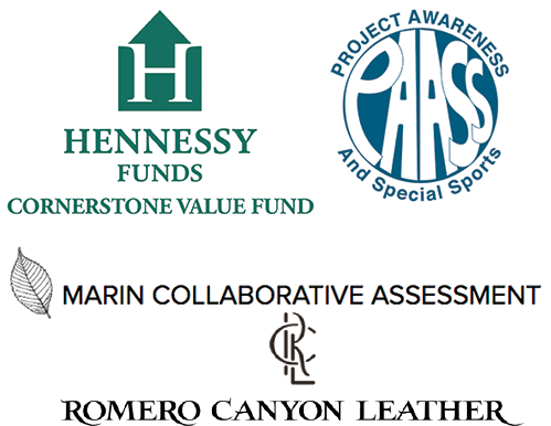 Hennessy Funds Cornerstone Value Fund, Project Awareness and Special Sports, Marin Collaborative Assessment, Romero Canyon Leather logos