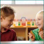 two children in kindergarten