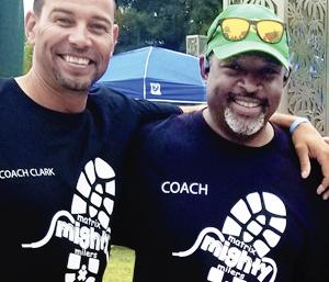 coach Mark Drafton with Coach Jonathan Clark