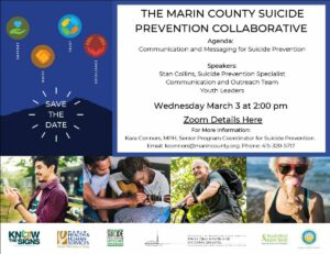 Advertisement for Communication and Messaging for Suicide Prevention From the Marin County Suicide Prevention Collaborative