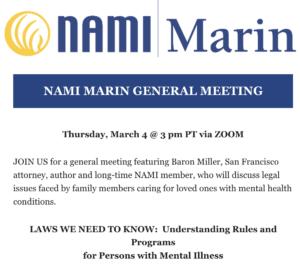 Marin NAMI meeting