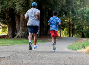 Mitchell family training for race