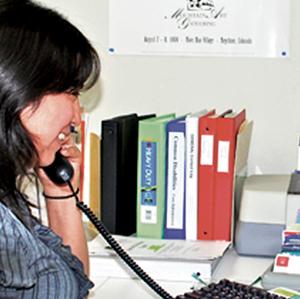 Ana, a Matrix Parent Advisor, on a Helpline call