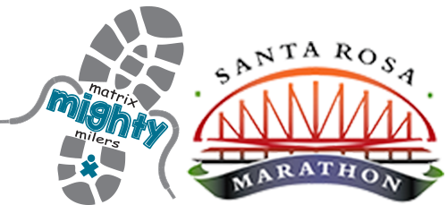 Mighty Milers and Santa Rosa Marathon logos